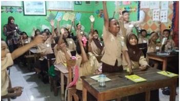 Semangat siswa-siswa kelas IVB